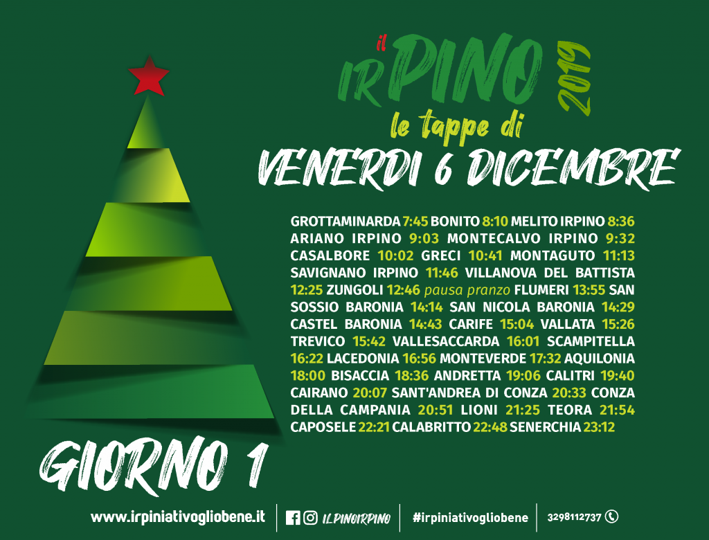Domani al via Il Pino Irpino